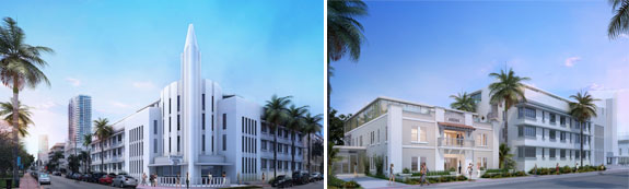 The Plymouth Hotel and Ansonia House in Miami Beach