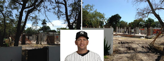 Alex Rodriguez and his Ponce Davis home currently under construction