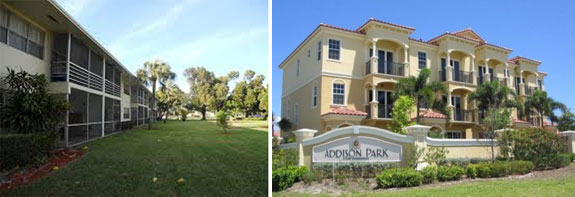 Boca Sol and Addison Park, both on Northeast 20th Street in Boca Raton
