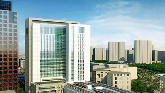A rendering of the new courthouse in downtown Ft. Lauderdale