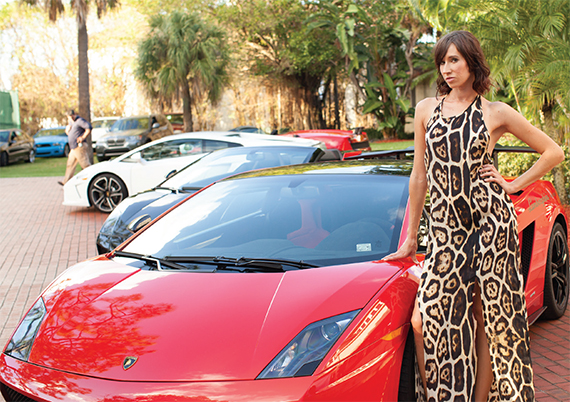 Turning a driveway into a high-end auto show is one strategy for appealing to wealthy buyers (Photo: Jeramy Pritchett at Blindfold Magazine)