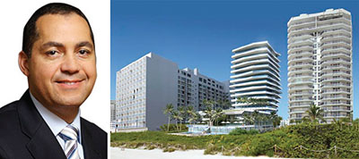 From left: Don Peebles and the Bath Club Estates project in Miami Beach