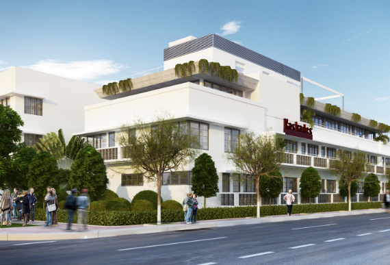 A rendering of the Kaskades Suites.