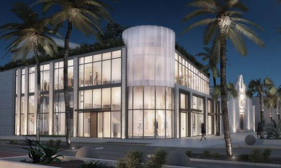 The proposed clothing store at Miami Beach Community Church