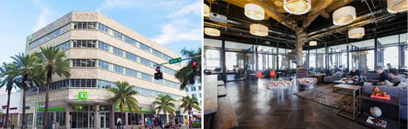 350 Lincoln Road and a WeWork space