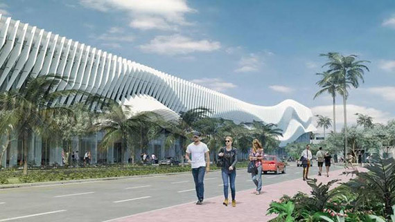 Miami Beach Convention Center rendering (Credit: Miami Herald)
