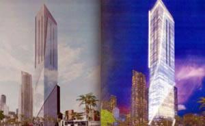 Rendering of 77-story tower to be built on 340 Biscayne Boulevard.