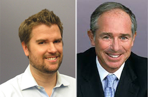Daren Blomquist (left), VP of RealtyTrac, and Stephen Schwarzman (right), CEO of the Blackstone Group