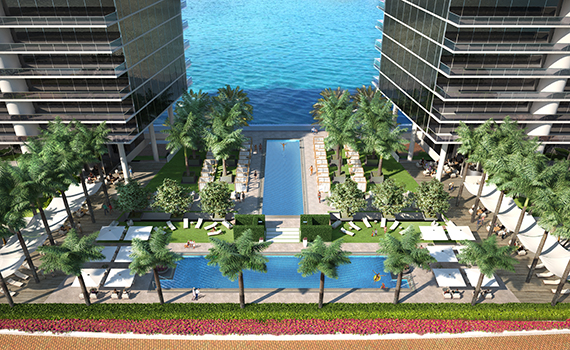 Prive pool deck rendering
