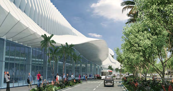Rendering of Miami Beach Convention Center