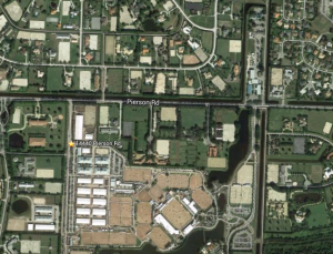 Ritter's land is near the Palm Beach International Equestrian Center, which is located at