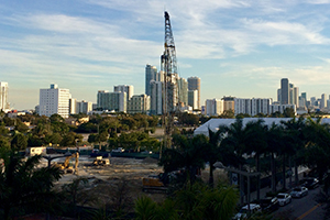 Construction in Midtown Miami