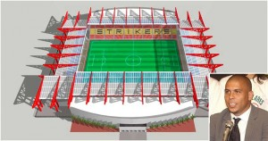 Plans for the Strikers new stadium, location to be determined