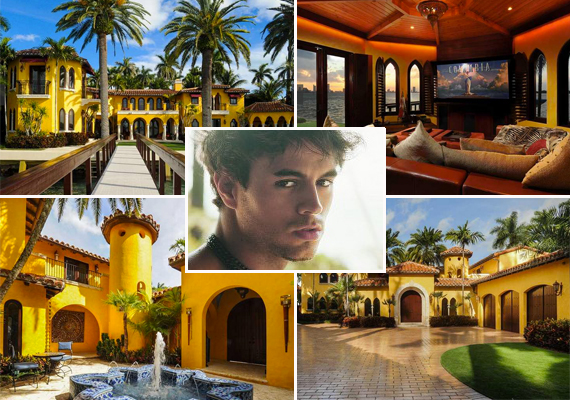 Enrique Iglesias and his former home at