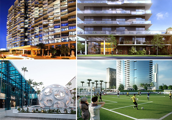 W South Beach, Cassa Brickell, Paramount Miami Worldcenter and Palm Court in the Design District