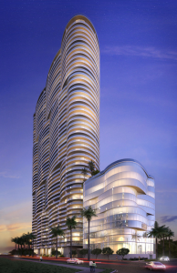 Rendering of Aria on the Bay