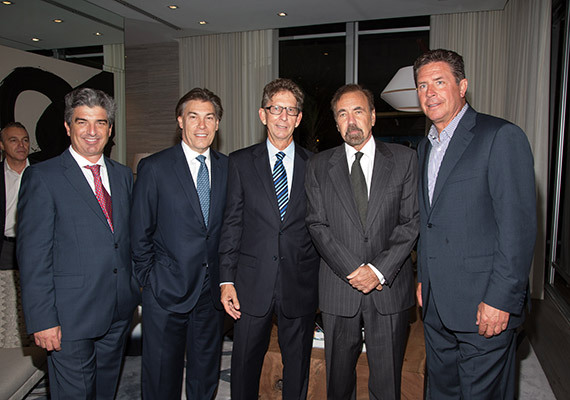 Carlos Rosso, Edgardo Defortuna, Andy Mitchell, Jorge Perez and Dan Marino