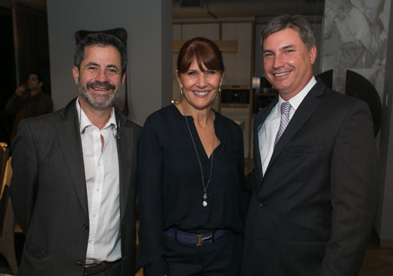 Eric Newman, Sonia Figueroa and Patrick Campbell