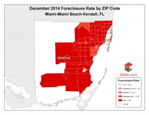 Miami-Dade foreclosure rates