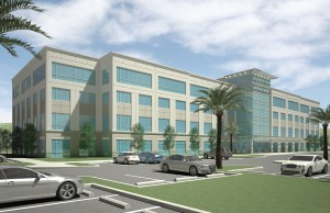 Rendering of the first Pembroke Pointe office building