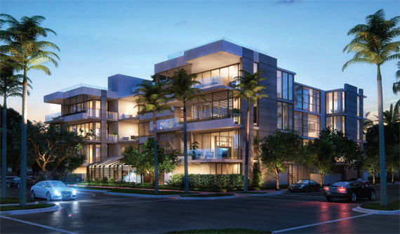A rendering of Louver House, a boutique condo in Miami Beach designed by Rene Gonzalez, who uses Rai Fernandez to do the more technical work.