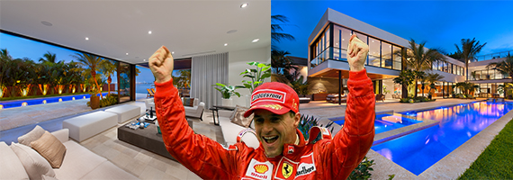 Eddie Irvine and 1142 North Venetian Drive