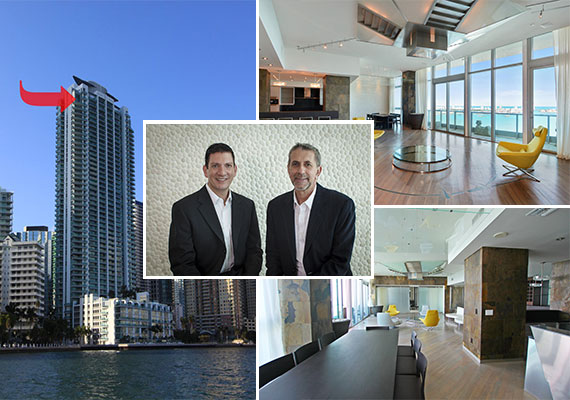 Luis Miguel's former penthouse and listing agents Allan Kleer and Fabian Garcia Diaz of Fortune International Realty