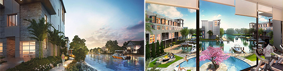 Renderings of Koi Residences & Marina in Pompano Beach