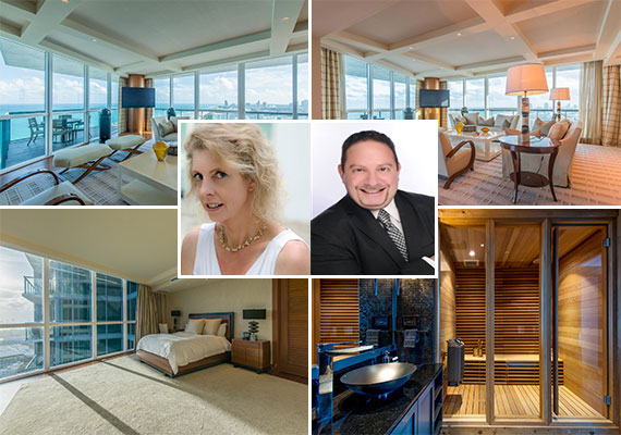 The units sold at the Setai and listing agents Becky Adkins and Eric Klein