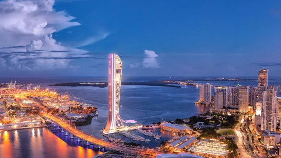Rendering of the SkyRise Miami tower
