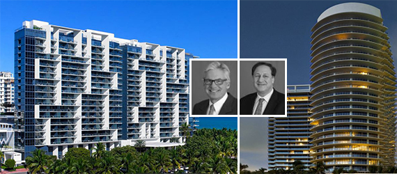 W South Beach, St Regis Bal Harbour, Bruce Duncan and Adam Aron of Starwood