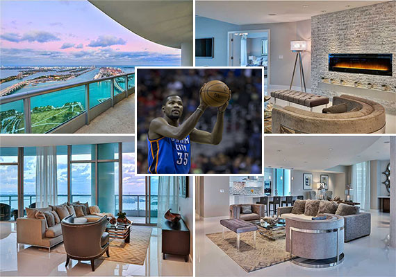 Kevin Durant and his 900 Biscayne Bay condo