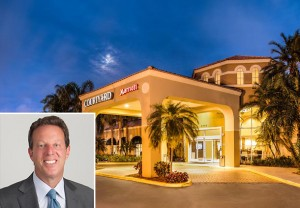 Courtyard Marriott Fort Lauderdale North and Jeffrey Fisher, CEO of Chatham Lodging Trust
