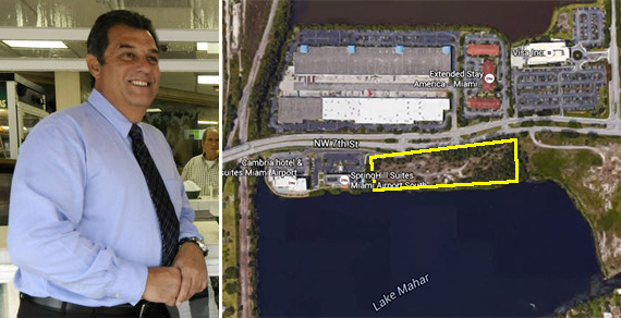 Felipe Valls Jr. and the vacant lot near Miami International Airport