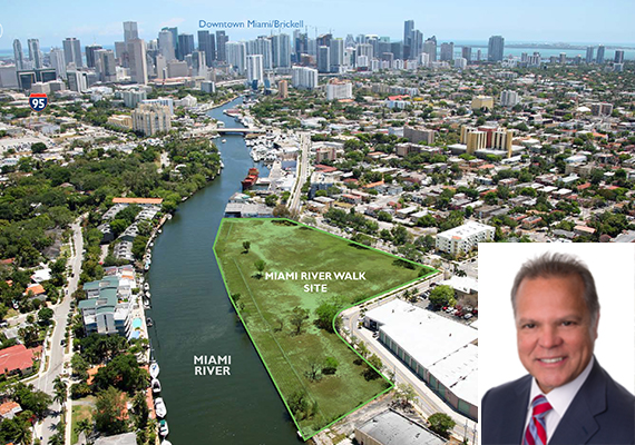 Miami River site and Rosendo Caveiro of Cushman & Wakefield
