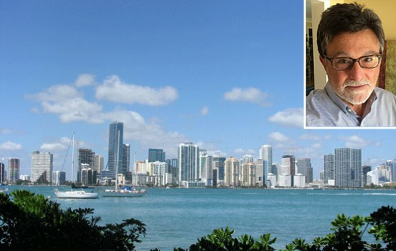 A shot of Miami's skyline and Joshua Dubin