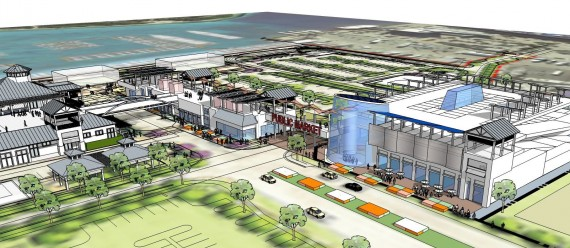 A rendering of the public market section of the Riviera Beach Marina