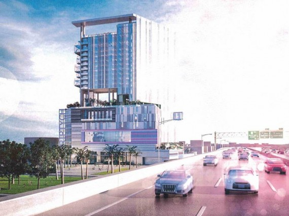 A rendering of the Triptych mixed-use project proposed for Midtown Miami