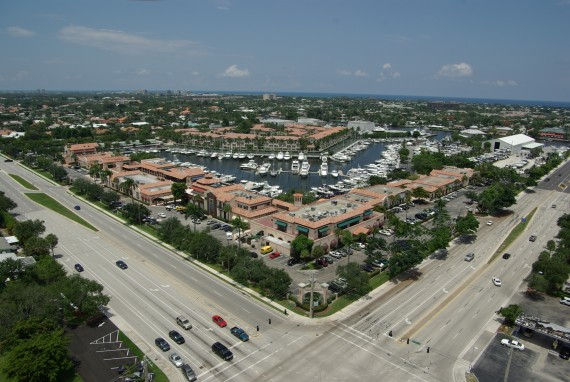 The PGA Marina in Palm Beach Gardens and the abutting mixed-use building
