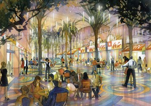 Rendering of Miracle Mile project