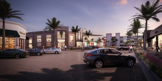 A street-side rendering of the Town Center at Sawgrass expansion