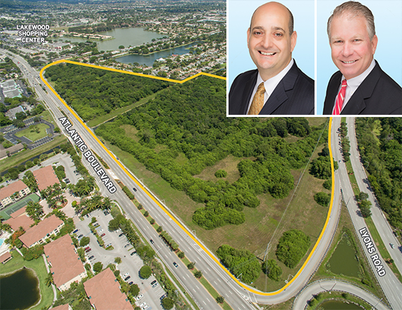 Broward development site, Sal Bonsignore and Clinton Casey