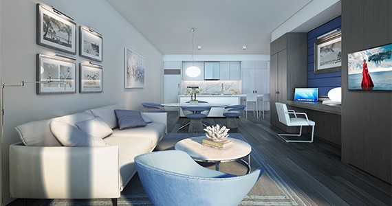 Living room at the Gale Fort Lauderdale