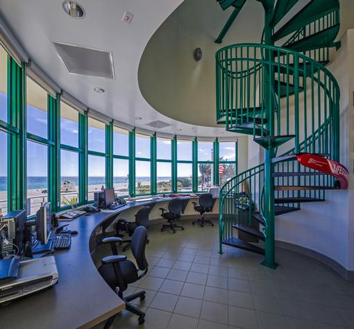 Haulover Beach Life Safety Facility designed by R.J. Heisenbottle Architects P.A.