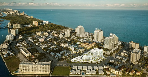 Aerial of the Gale Fort Lauderdale