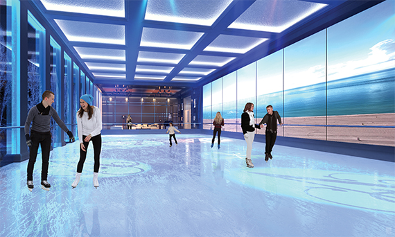 Ice skating rink at the Estates at Acqualina (Credit: ArX Solutions)