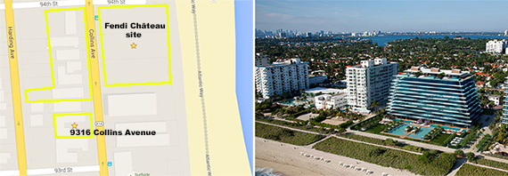 Map of Château Group's Surfside properties