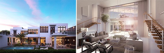 Renderings of the Mansions at Doral