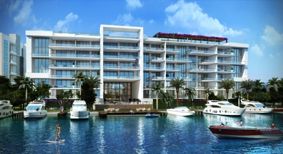 A rendering of the 38-unit Sereno Bay Harbor Islands project