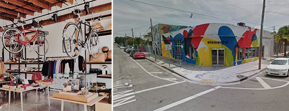 Shinola's LA store and the space it will ocupy in Wynwood